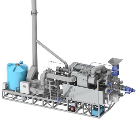 Агрегат пиролиза шин 1