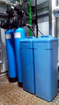 Пример установки умягчения воды из пластика 1