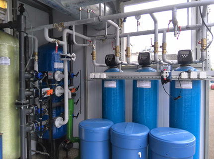 Пример установки умягчения воды из пластика 2
