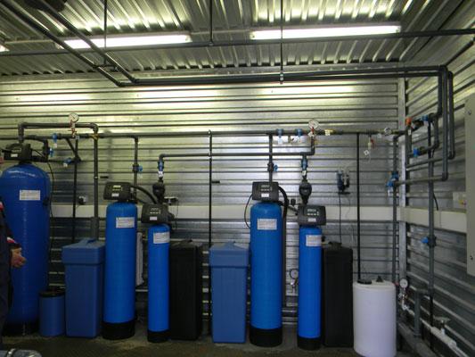 Пример установки умягчения воды из пластика 5