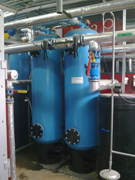 Установки умягчения воды УНК с корпусами из стали 3