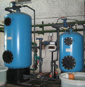 Установки умягчения воды УНК с корпусами из стали 2